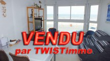 VENDU ! Quend-Plage face mer appartement T2-Cabine avec parking